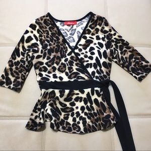 Peplum Leopard Blouse for Womens Size:Small ❤️